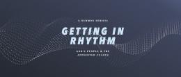 Getting in Rhythm: The Rhythm of Weeks
